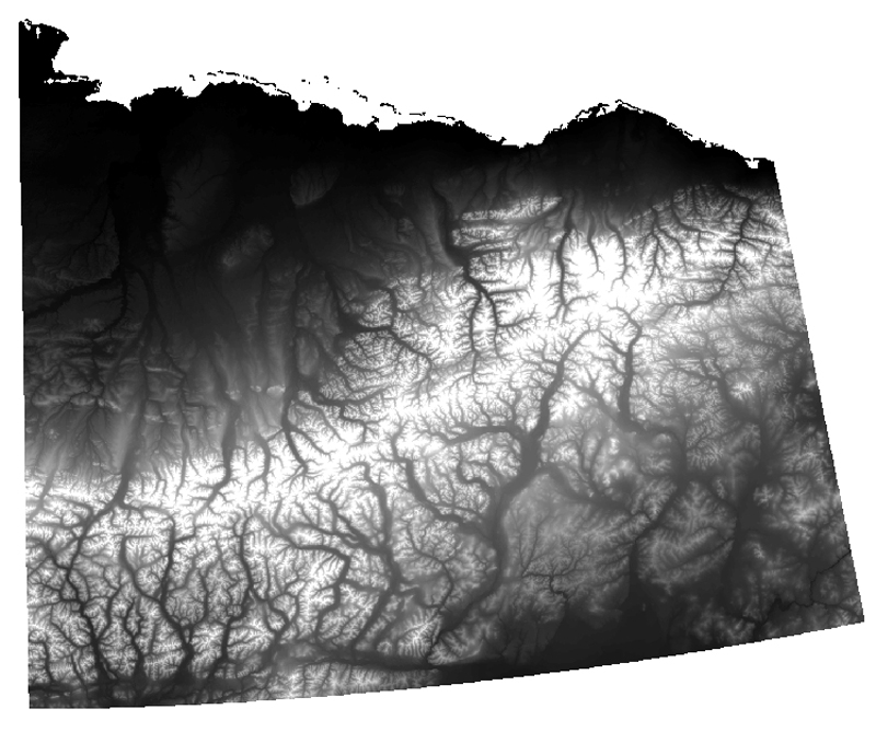 Toolik Field StationGIS Data Download - Digital elevation model download