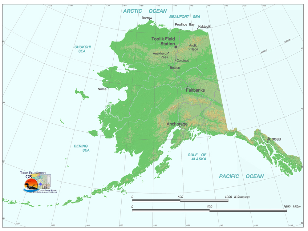 Kaktovik Alaska Map.Toolik Field Station General Maps