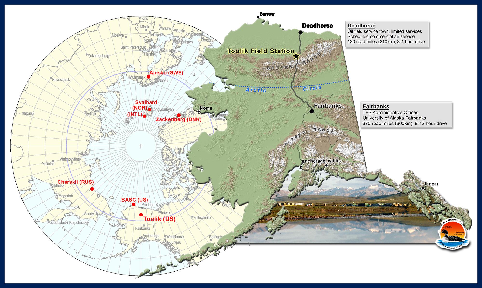 Prudhoe Bay Alaska Map.Toolik Field Station General Maps